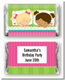 Slumber Party with Friends - Personalized Birthday Party Mini Candy Bar Wrappers