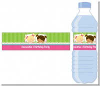Slumber Party with Friends - Personalized Birthday Party Water Bottle Labels