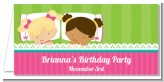 Slumber Party with Friends - Personalized Birthday Party Place Cards