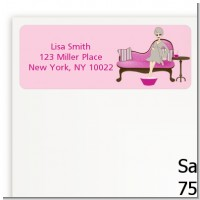 Spa Mom Pink - Baby Shower Return Address Labels