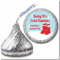 Snow Boots - Hershey Kiss Christmas Sticker Labels