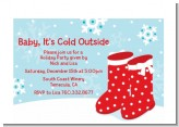Snow Boots - Christmas Petite Invitations