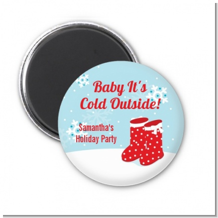 Snow Boots - Personalized Christmas Magnet Favors