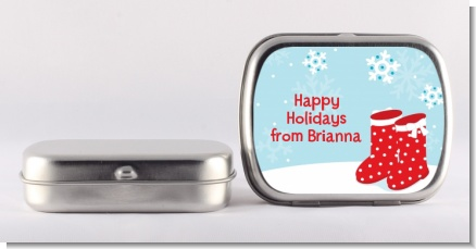 Snow Boots - Personalized Christmas Mint Tins