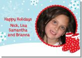 Snow Boots - Personalized Photo Christmas Cards
