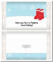 Snow Boots - Personalized Popcorn Wrapper Christmas Favors