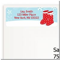 Snow Boots - Christmas Return Address Labels