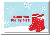 Snow Boots - Christmas Thank You Cards