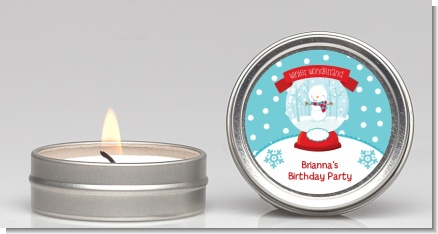Snow Globe Winter Wonderland - Birthday Party Candle Favors