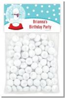 Snow Globe Winter Wonderland - Custom Birthday Party Treat Bag Topper