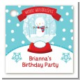 Snow Globe Winter Wonderland - Personalized Birthday Party Card Stock Favor Tags thumbnail