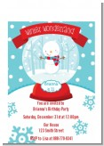 Snow Globe Winter Wonderland - Birthday Party Petite Invitations