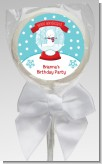 Snow Globe Winter Wonderland - Personalized Birthday Party Lollipop Favors