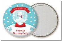 Snow Globe Winter Wonderland - Personalized Birthday Party Pocket Mirror Favors