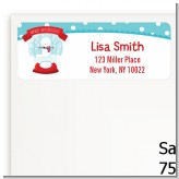 Snow Globe Winter Wonderland - Birthday Party Return Address Labels