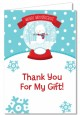 Snow Globe Winter Wonderland - Birthday Party Thank You Cards thumbnail