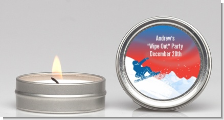 Snowboard - Birthday Party Candle Favors