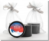 Snowboard - Birthday Party Black Candle Tin Favors