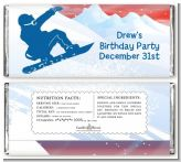 Snowboard - Personalized Birthday Party Candy Bar Wrappers