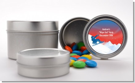 Snowboard - Custom Birthday Party Favor Tins