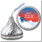 Snowboard - Hershey Kiss Birthday Party Sticker Labels