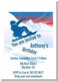 Snowboard - Birthday Party Petite Invitations