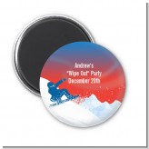 Snowboard - Personalized Birthday Party Magnet Favors