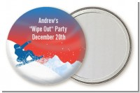 Snowboard - Personalized Birthday Party Pocket Mirror Favors