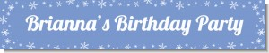 Snowflakes - Personalized Birthday Party Banners