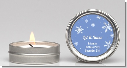 Snowflakes - Birthday Party Candle Favors