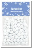 Snowflakes - Custom Birthday Party Treat Bag Topper