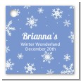 Snowflakes - Personalized Birthday Party Card Stock Favor Tags thumbnail