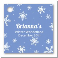 Snowflakes - Personalized Birthday Party Card Stock Favor Tags