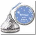 Snowflakes - Hershey Kiss Birthday Party Sticker Labels thumbnail