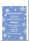 Snowflakes - Birthday Party Petite Invitations