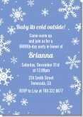 Snowflakes - Birthday Party Invitations