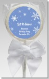 Snowflakes - Personalized Birthday Party Lollipop Favors