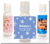Snowflakes - Personalized Birthday Party Lotion Favors