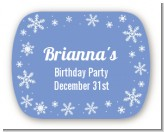 Snowflakes - Personalized Birthday Party Rounded Corner Stickers