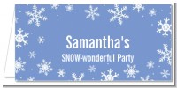 Snowflakes - Personalized Birthday Party Place Cards