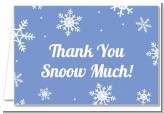 Snowflakes - Birthday Party Thank You Cards