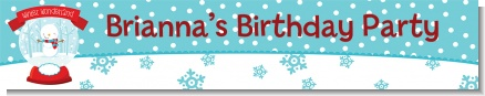 Snow Globe Winter Wonderland - Personalized Birthday Party Banners