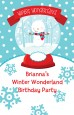 Snow Globe Winter Wonderland - Personalized Birthday Party Wall Art thumbnail