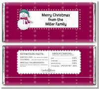 Snowman - Personalized Christmas Candy Bar Wrappers