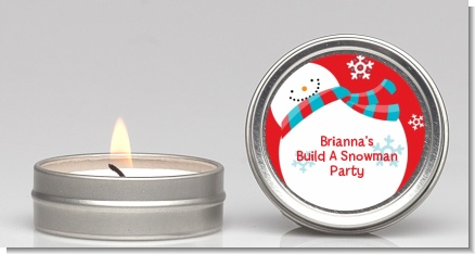 Snowman Fun - Christmas Candle Favors