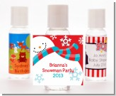 Snowman Fun - Personalized Christmas Hand Sanitizers Favors