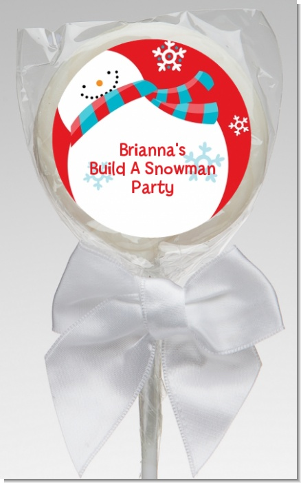 Snowman Fun - Personalized Christmas Lollipop Favors