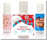 Snowman Fun - Personalized Christmas Lotion Favors