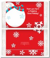 Snowman Fun - Personalized Popcorn Wrapper Christmas Favors