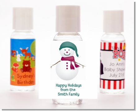 Snowman - Personalized Christmas Hand Sanitizers Favors